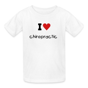 I LOVE chiropractic (childrens) - Kids' T-Shirt