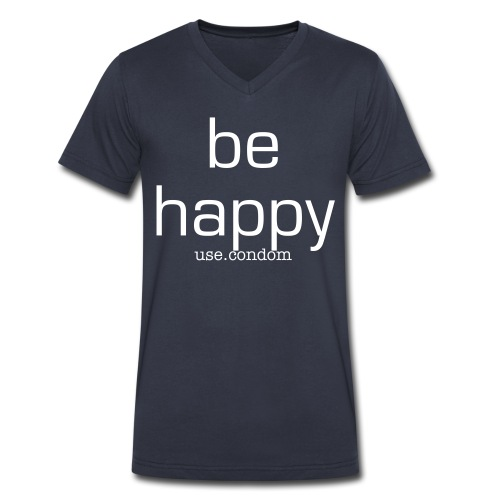 be, - Men's V-Neck T-Shirt by Canvas