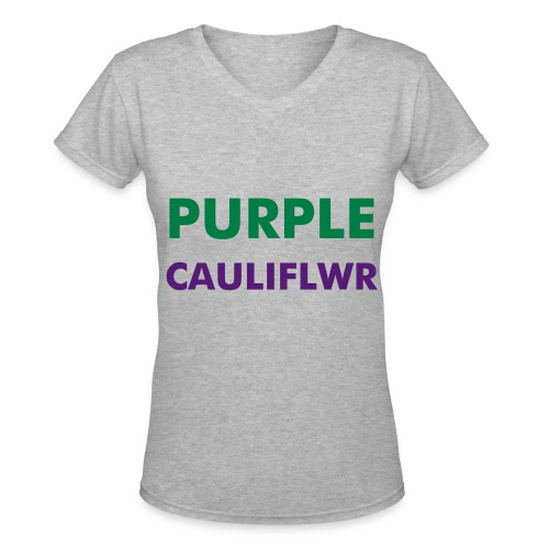 Purple Cauliflower (Credits to Taylor) - Women's V-Neck T-Shirt