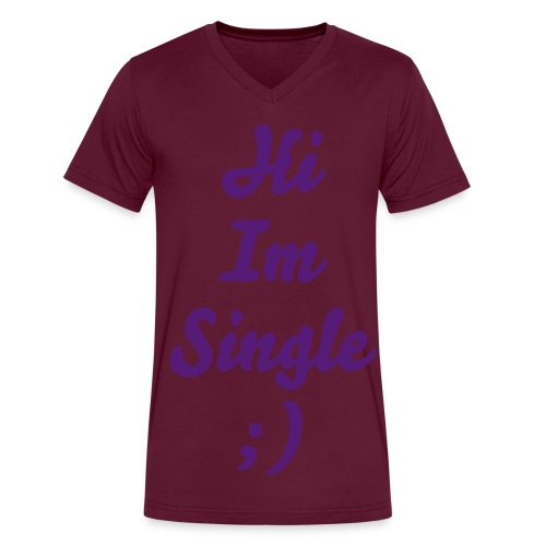 Hi Im Single V-Neck - Men's V-Neck T-Shirt by Canvas