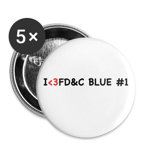 I LUV FD&C BLUE #1 - Small Buttons