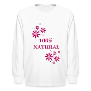 100% Natural - Kids' Long Sleeve T-Shirt