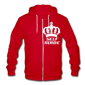 Self Made - Unisex Fleece Zip Hoodie by American Apparel