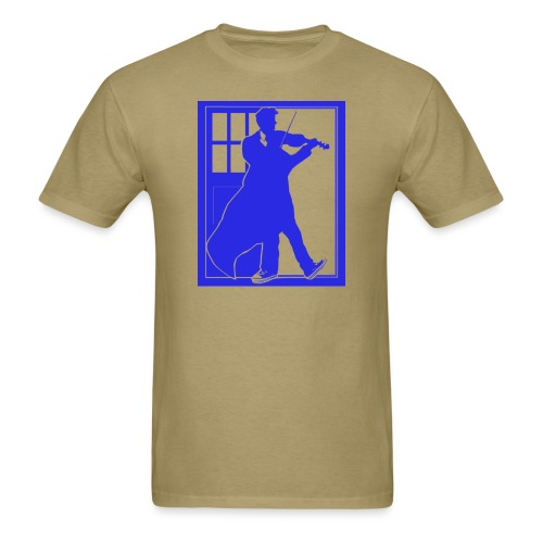 The Fiddling Doctor Blue Version - Men's T-Shirt