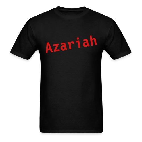 Black Azariah Tee w/ Red Lettering - Men's T-Shirt