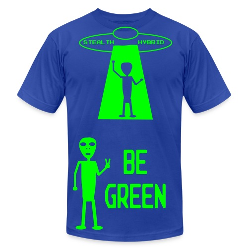 Be Green - Alien Hybrid Spaceship - Come In Peace - Men's Shirt - Men's Fine Jersey T-Shirt