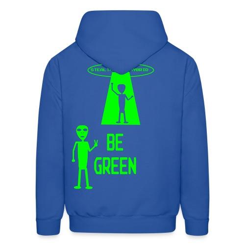 Be Green - Alien Hybrid Spaceship - Come In Peace - Men's Hoodie - Men's Hoodie