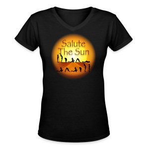 Salute the Sun - Women's V-Neck T-Shirt