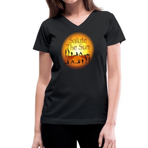 Salute the Sun - Women's V-Neck T-Shirt