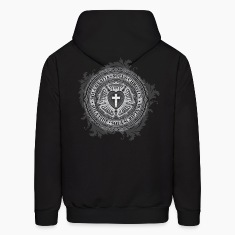 Luther Rose Cross - Men's Hoodie - Design on Back!