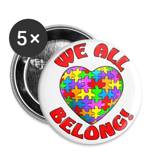 Autism Buttons. - Large Buttons
