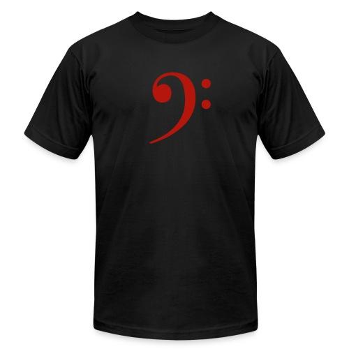 Blk Red Mens Bass Clef - Men's Fine Jersey T-Shirt