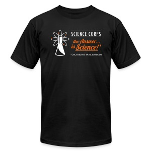 Science Corps - The Answer (Black Men's AA) - Men's T-Shirt by American Apparel