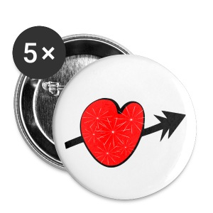 Red shiny heart arrow vecgtor art Large button - Large Buttons