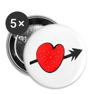 Red shiny heart arrow vecgtor art small button - Small Buttons