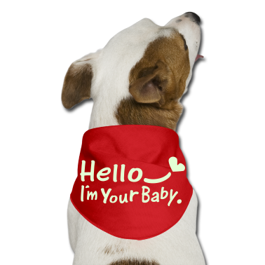 Hello.I'm your baby txt heart vector art Dog Bandana