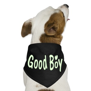 Good boy txt heart vector art Dog Bandana - Dog Bandana