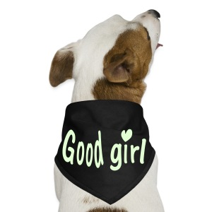 Good girl heart txt vector art Dog bandana - Dog Bandana