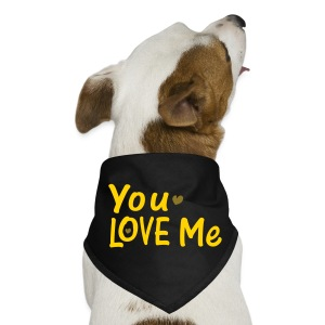 you love me txt vector art Dog Bandana - Dog Bandana