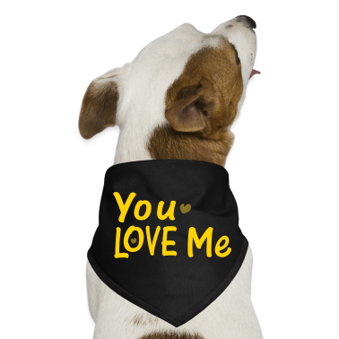 you love me txt vector art Dog Bandana