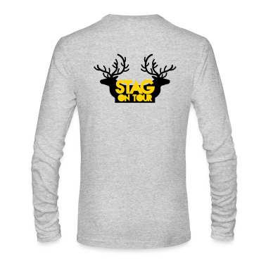 BACHELOR stag on tour with reindeer stags Long Sleeve Shirts