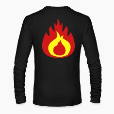 fat flame FLAMES hot Long Sleeve Shirts