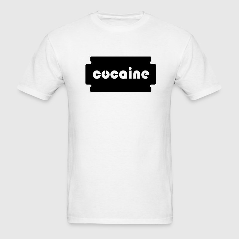cocaine razor blade - Men's T-Shirt