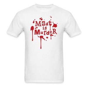 Meat is Murder - vector - Men's T-Shirt