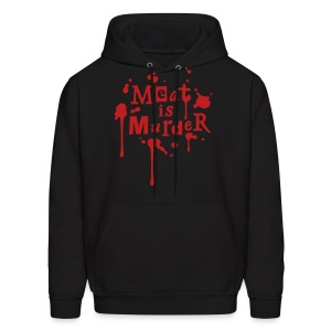 Meat is Murder - vector - Men's Hoodie