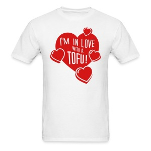 I'M IN LOVE WITH A TOFU! - vector - Men's T-Shirt
