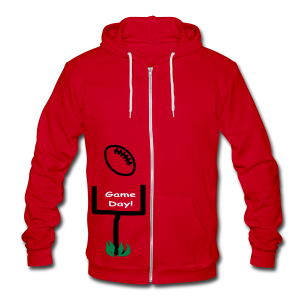 Football Game Day - Unisex Fleece Zip Hoodie by American Apparel