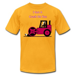 I Got A Crush On You - Steam Roller Girl - Men's T-Shirt - Men's T-Shirt by American Apparel