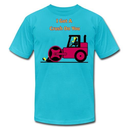 I Got A Crush On You - Steam Roller Girl - Men's T-Shirt - Men's Fine Jersey T-Shirt
