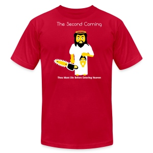 The Second Coming - Jesus Manson Chainsaw Maniac - Men's T-Shirt - Men's Fine Jersey T-Shirt
