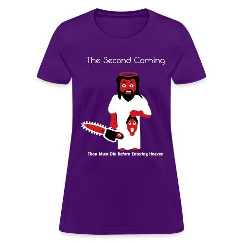 The Second Coming - Jesus Manson Chainsaw Maniac - Women's T-Shirt - Women's T-Shirt