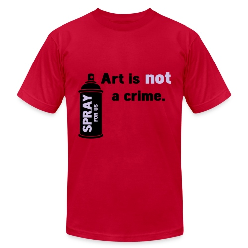 Art Is Not A Crime tee - Men's Fine Jersey T-Shirt