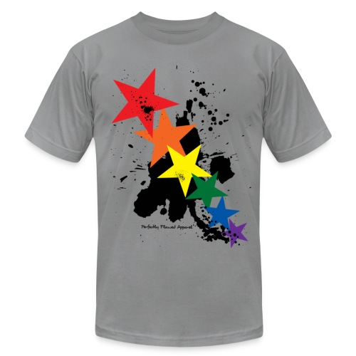 Rainbow Stars - Men's T-Shirt by American Apparel