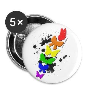 Rainbow Butterflies - Small Buttons