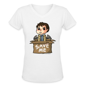 Save Me (DESIGN BY KARINA) - Women's V-Neck T-Shirt