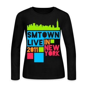 [KOR] SMTown Live New York 2011 (English Back) - Women's Long Sleeve Jersey T-Shirt