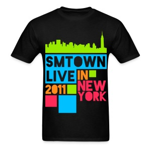 [KOR] SMTown Live New York 2011 (Hangul Back) - Men's T-Shirt