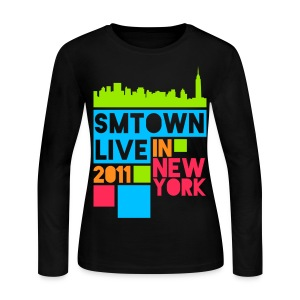 [KOR] SMTown Live New York 2011 (Hangul Back) - Women's Long Sleeve Jersey T-Shirt