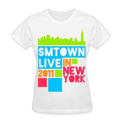 [KOR] SMTown Live New York 2011 (Front Only) - Women's T-Shirt