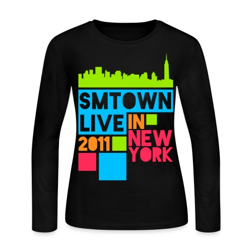 [KOR] SMTown Live New York 2011 (Front Only) - Women's Long Sleeve Jersey T-Shirt