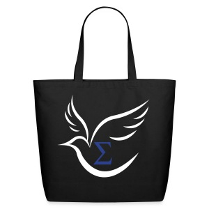 Sigma Dove Large BLK Tote - Eco-Friendly Cotton Tote