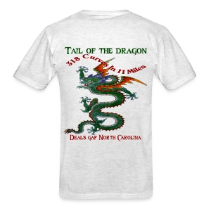 Tail of The Dragon 4 back print 318 Curves in 11 Miles - Men's T-Shirt