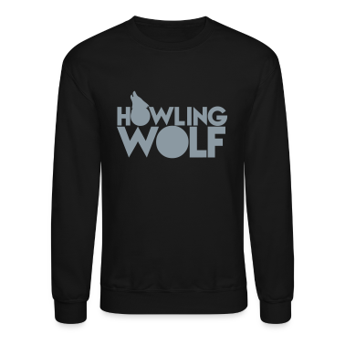 HOWLING WOLF wolves howling at the moon silver Long Sleeve Shirts