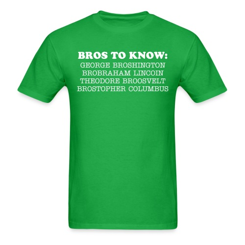 MR.FROGS Bros to Know T-Shirt - Men's T-Shirt