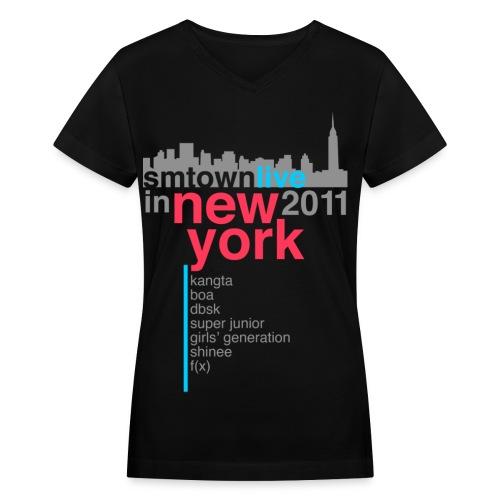 [KOR] SMTown Live in New York 2011 (V.2) - Women's V-Neck T-Shirt