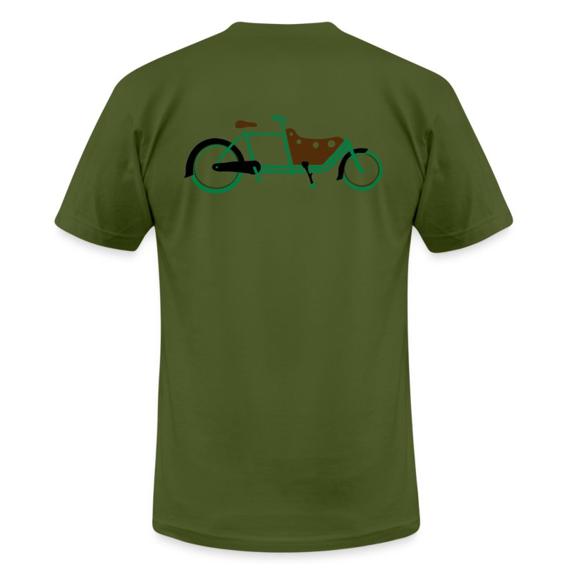 Bicycle Family Cargo Bike Army Arms - Men's Fine Jersey T-Shirt